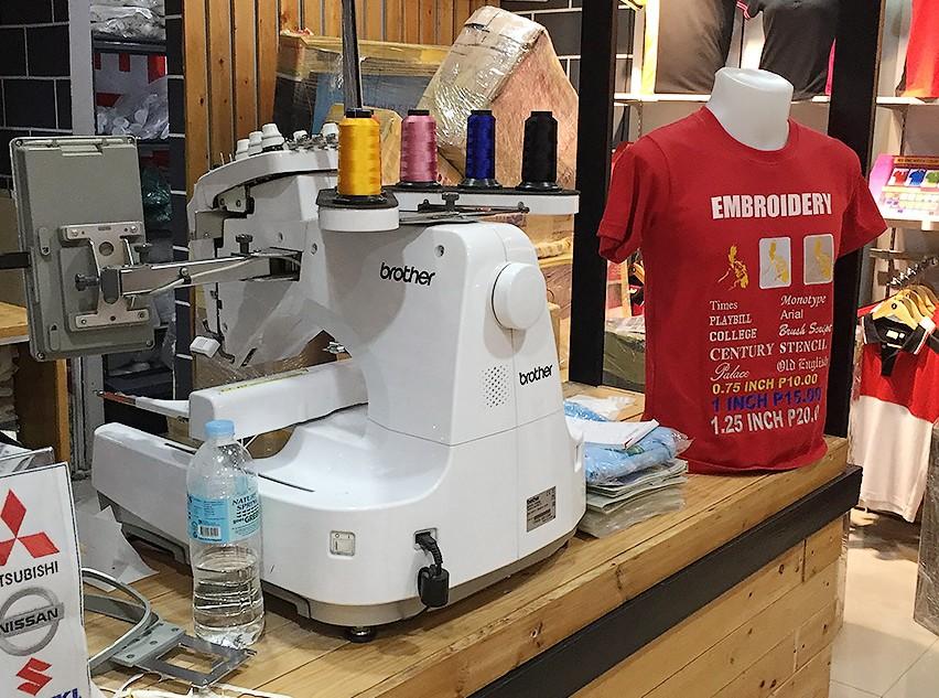 刺繍作業場