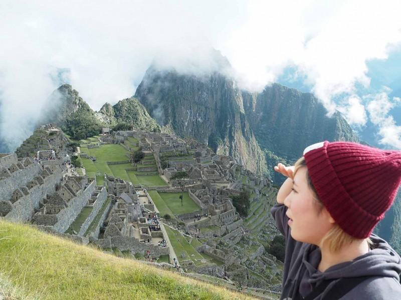 ペルーにあるマチュピチュとMさん