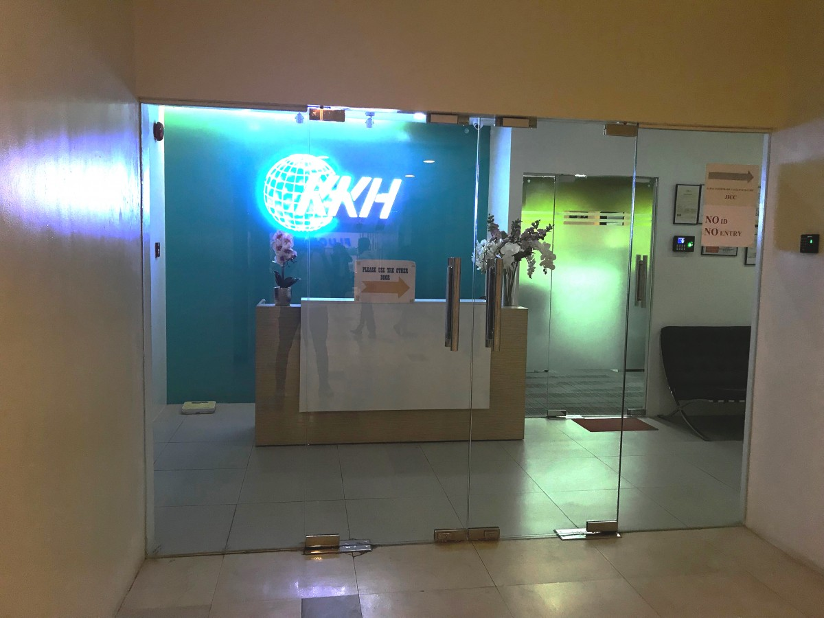 IT授業が行われる5階オフィスの入り口