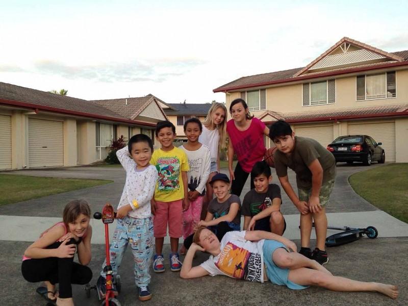 オーストラリア留学時代の近所の子どもたちと