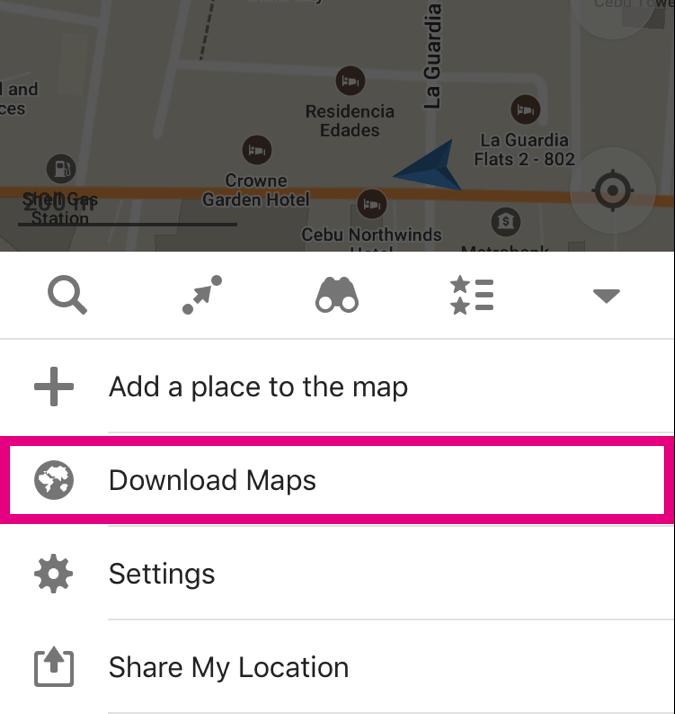 マップをダウンロードする場祖