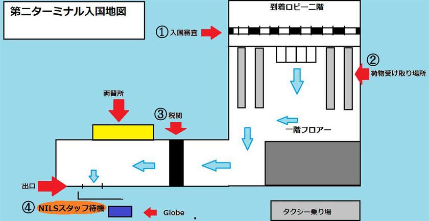 国際線ターミナル見取り図