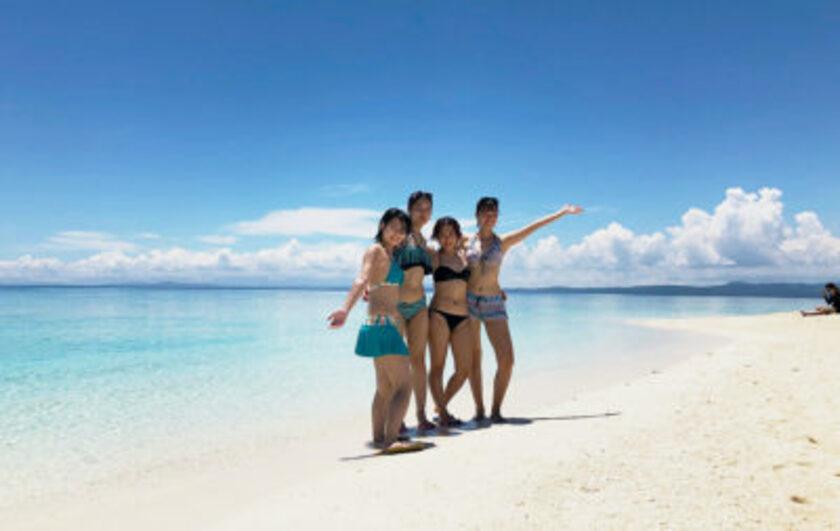 友達とビーチ観光