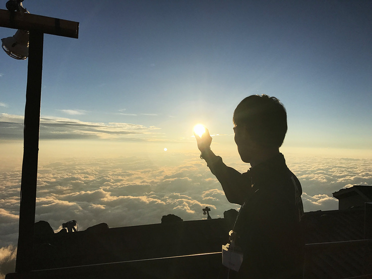 富士山バイトでの写真