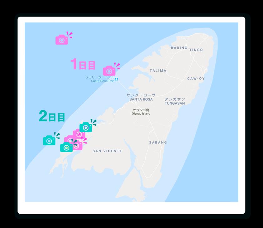 おススメスポットの地図