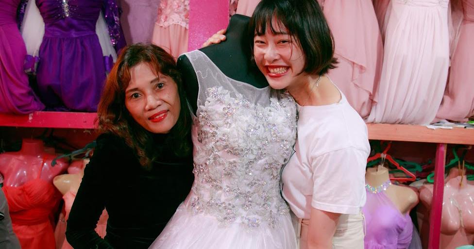 ブティックでドレス制作を手掛けた生徒さん