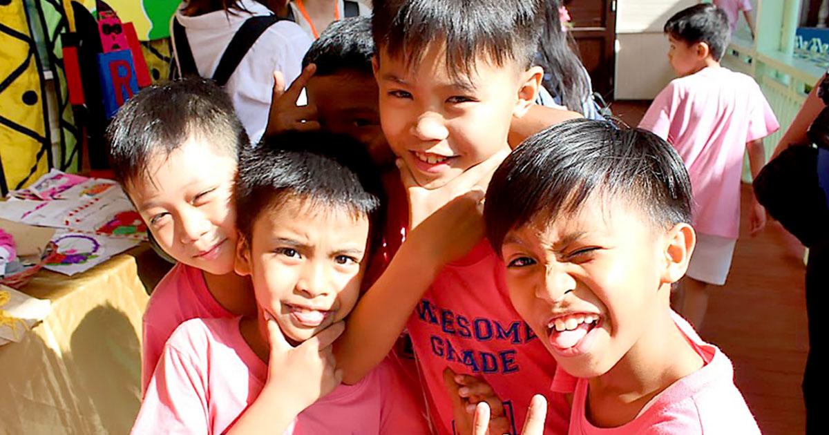 子供たちの笑顔は太陽です