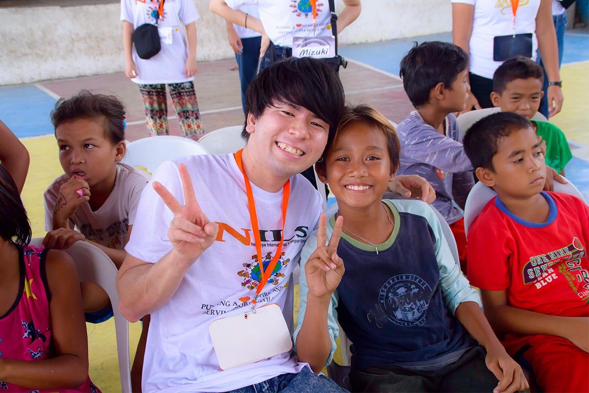 NILS主催のチャリティーイベントに参加する有村さん