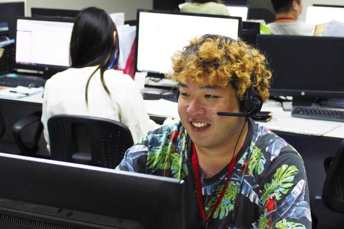 普段はお客様との電話対応業務をされている岩渕さん
