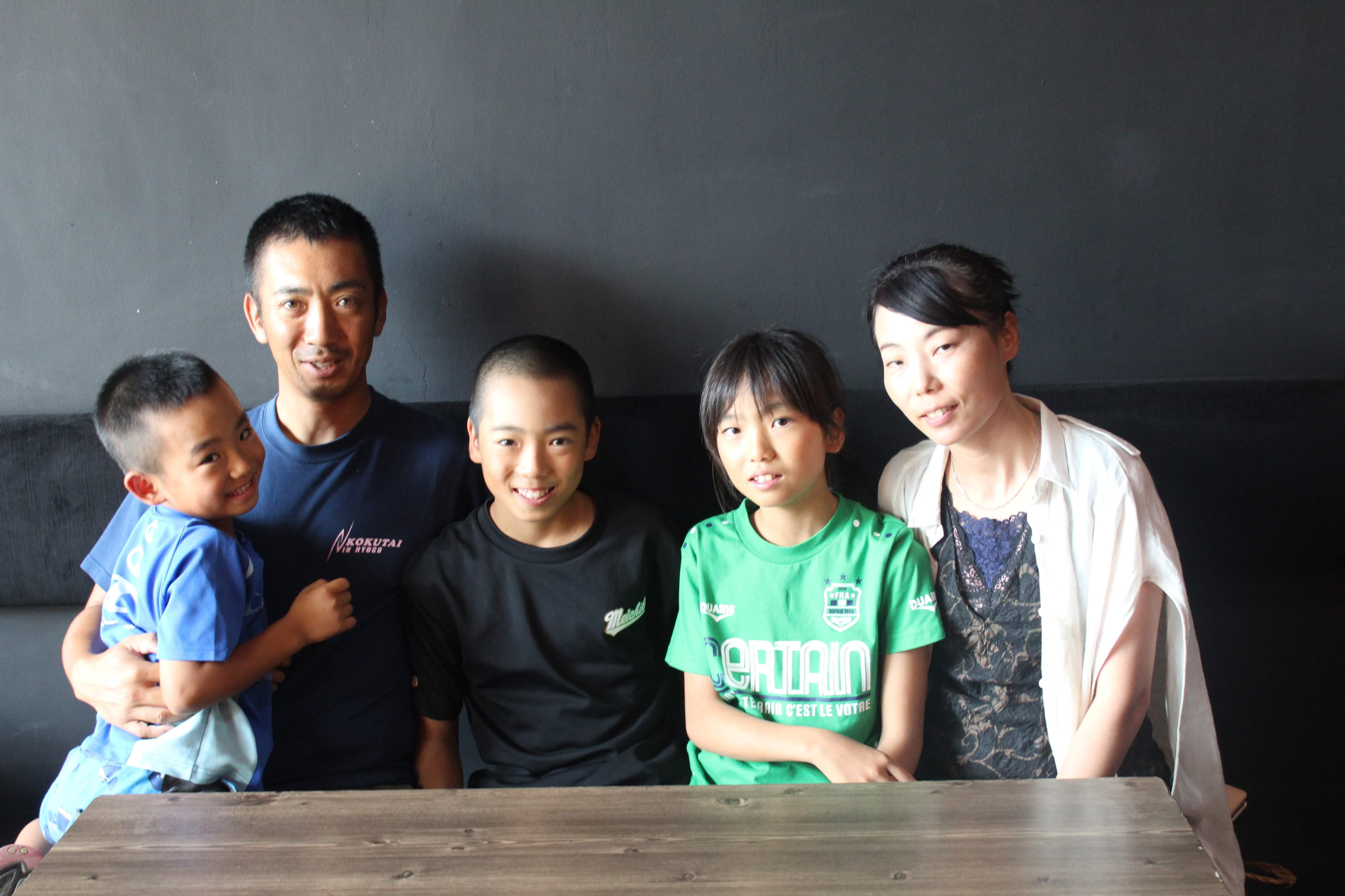 家族5人、仲の良い木村ファミリー
