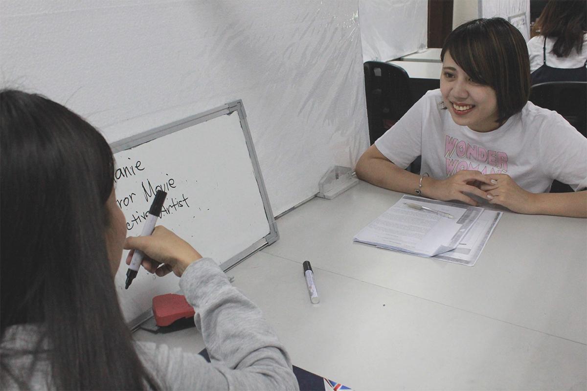 マンツーマンの英語授業