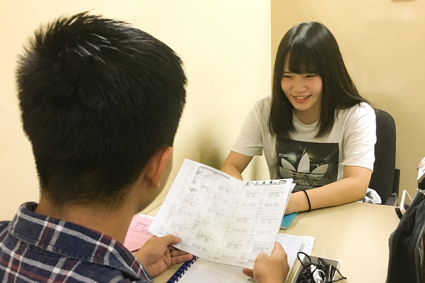 鯉川さんの授業のご様子。いつも楽しくレッスンを受けています