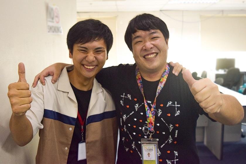 今回インタビューに応じてくれた東さん(写真左)と上司との一枚。